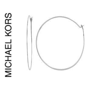 NWT authentic MK Silver tone hoop light earrings